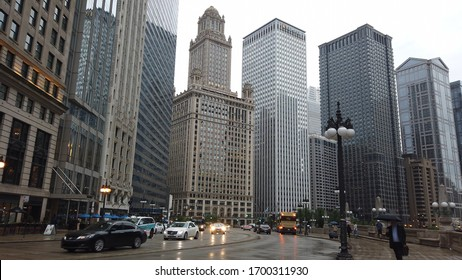 The Skyscrapers of Chicago Downtown - CHICAGO, ILLINOIS - JUNE 12, 2019