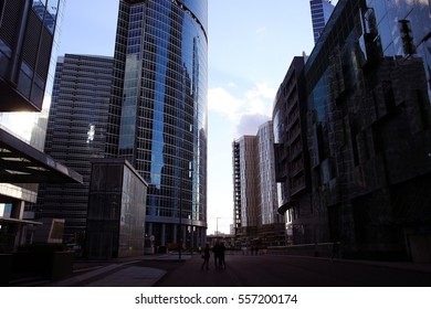 skyscrapers city business background