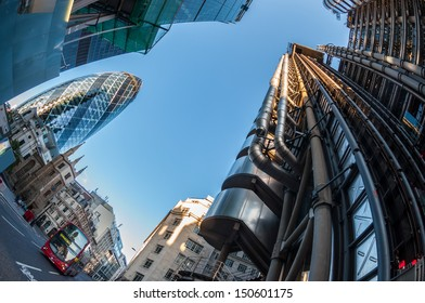 Skyscrapers in the City of London.