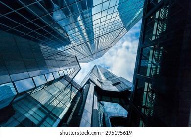 Skyscrapers in Commercial Area, Hongkong