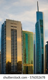 Skyscrapers in Dubai are great examples of modern architecture.