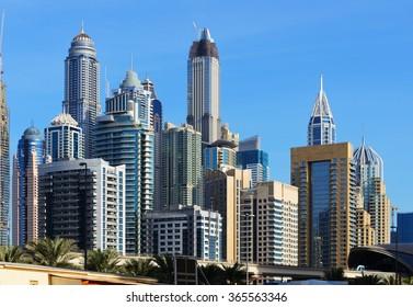 Skyscrapers of Dubai Marina.