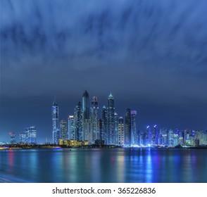 Skyscrapers in Dubai Marina, UAE