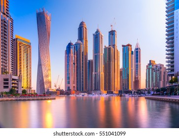 Skyscrapers in Dubai Marina. UAE