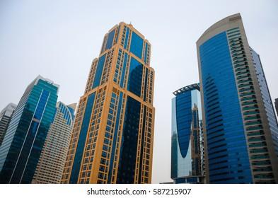 Skyscrapers of Dubai, modern architecture