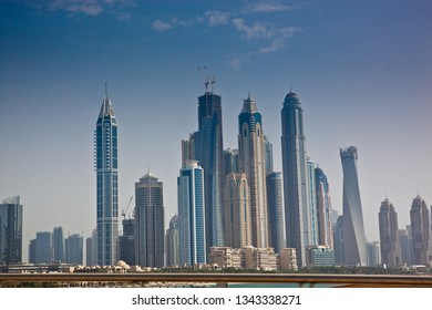 Skyscrapers in Dubai , UAE