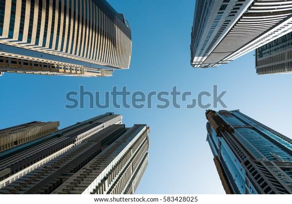Skyscrapers in Dubai, UAE.