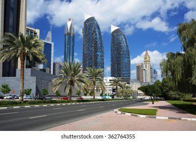 Skyscrapers of the Dubai World Trade center.