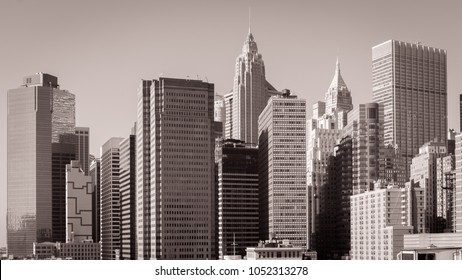 Skyscrapers in the Financial District, New York City, USA