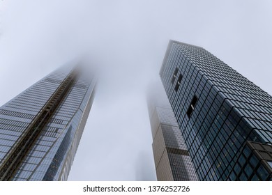 Skyscrapers in the fog in New York, USA