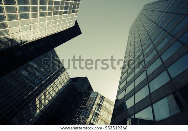 Skyscrapers Glass Facade Modern Buildings Paris Stock Photo (Edit ...