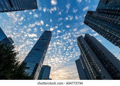 The skyscrapers in guangzhou