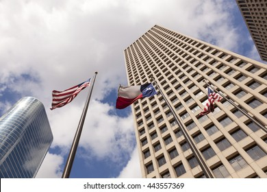 Skyscrapers in Houston downtown district. Texas, United States