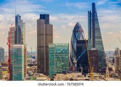 Skyscrapers in London