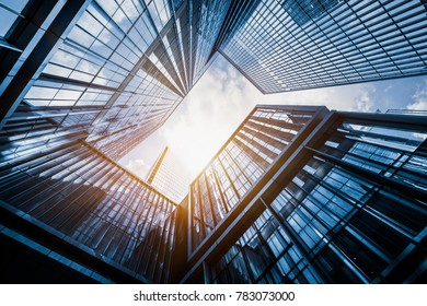 Skyscrapers from a low angle view in modern city, China