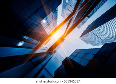Skyscrapers from a low angle view in Shanghai,China.