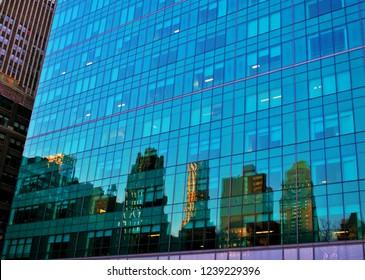 Skyscrapers of Manhattan, New York City, USA.