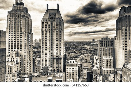 Skyscrapers of Manhattan, New York City.