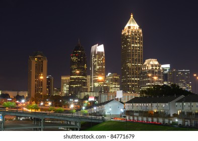 Skyscrapers in Midtown Atlanta, Georgia, USA.