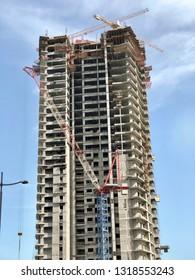 Skyscrapers in a modern city