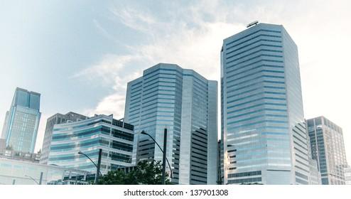 Skyscrapers of Montreal, Quebec.