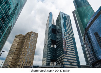 skyscrapers of Moscow in the business heart of the city. Contemporary moscow