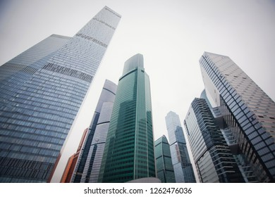 skyscrapers in Moscow city