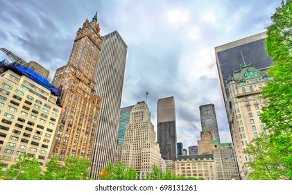 Skyscrapers on Grand Army Plaza in Manhattan - New York City, United States