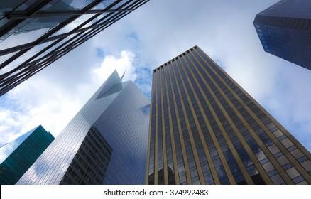 Skyscrapers on Manhattan, NY