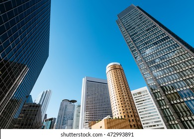 Skyscrapers of Osaka Central Business District.