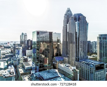Skyscrapers from the sky