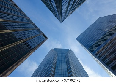 Skyscrapers towards the sky