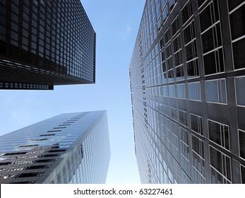 b9900b762b63 Skyscrapers under blue sky