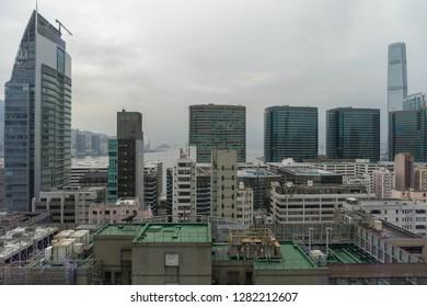 Skysrapers and Buildings in Tsim Sha Tsui Hong Kong China