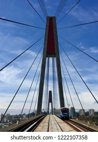 SkyTrain bridge in Vancouver between Surrey and New Westminister