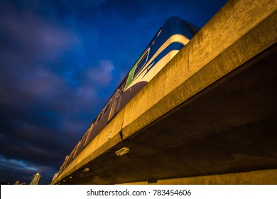 Skytrain in Vancouver BC