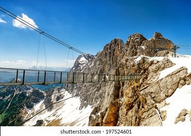 Skywalk in Dachstein Glacier in Austria