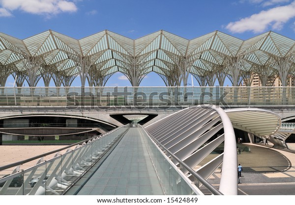 Skywalk Train Metro Bus Stations Vasco Stock Photo (Edit Now