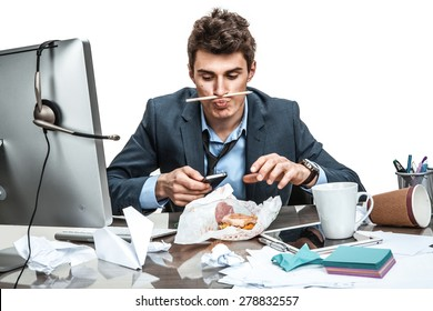 Image result for images of lazy employee yakking on phone