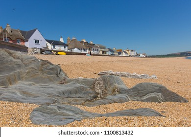 Slapton Sands beach Devon England UK, with rocks