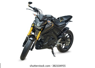 SLASH YOUR DARKNESS - 1 Jan 2016:  Black Yamaha M-SLAZ 150cc