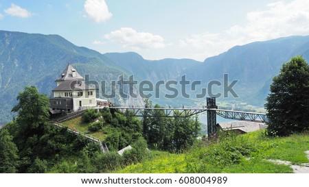 Slat Mine Austria Trees Stock Photo Edit Now 608004989 Shutterstock