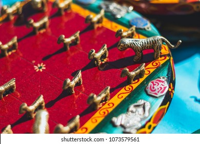 Slate Bagh Chal (Moving Tigers) Nepal Traditional Boardgame on tibetan market in Kathmandu, Nepal