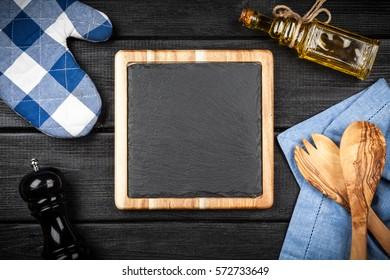Slate board in a wooden frame