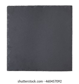 A slate chopping board isolated on a white background