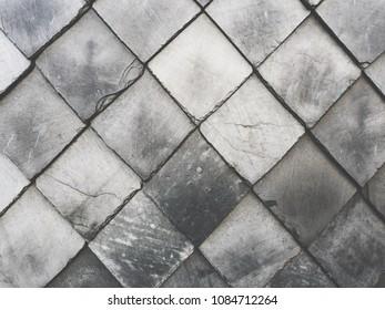 slate cladding pattern, black background