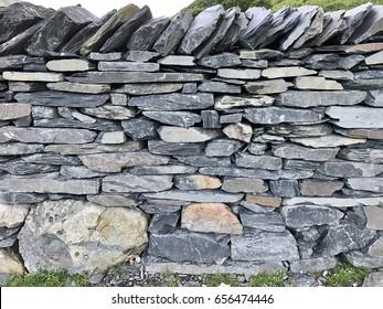 Slate Dry Stone wall