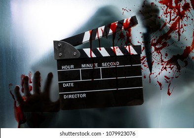 slate film,clapperboard for horror movie