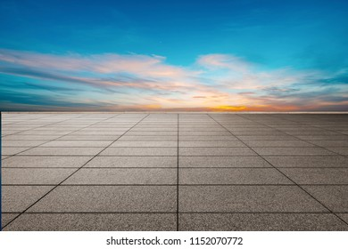 The Slate Marble square under the setting sun