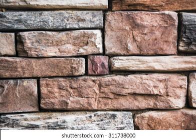 Slate Pattern Rock Retaining Wall